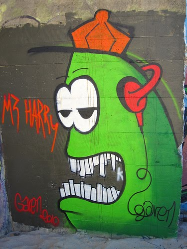scary graffiti monster characters