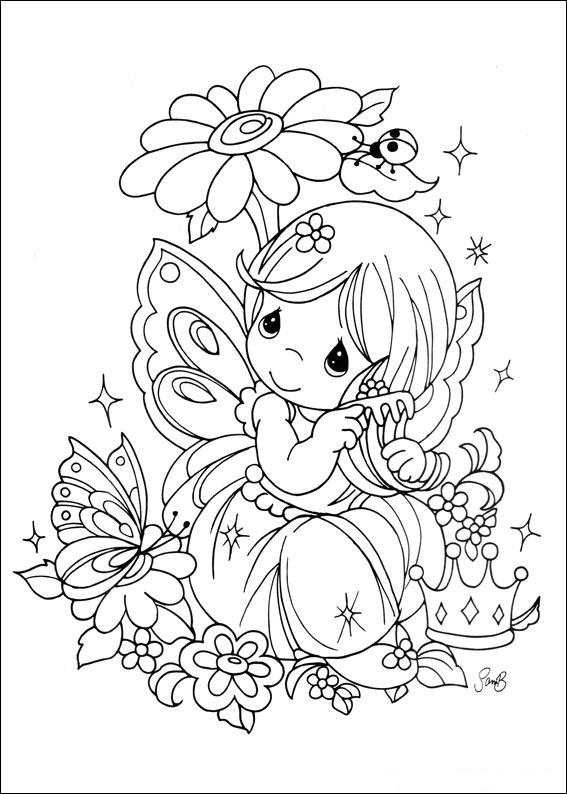 Temas para ni os precious moments para colorear for Precious moments angel coloring pages