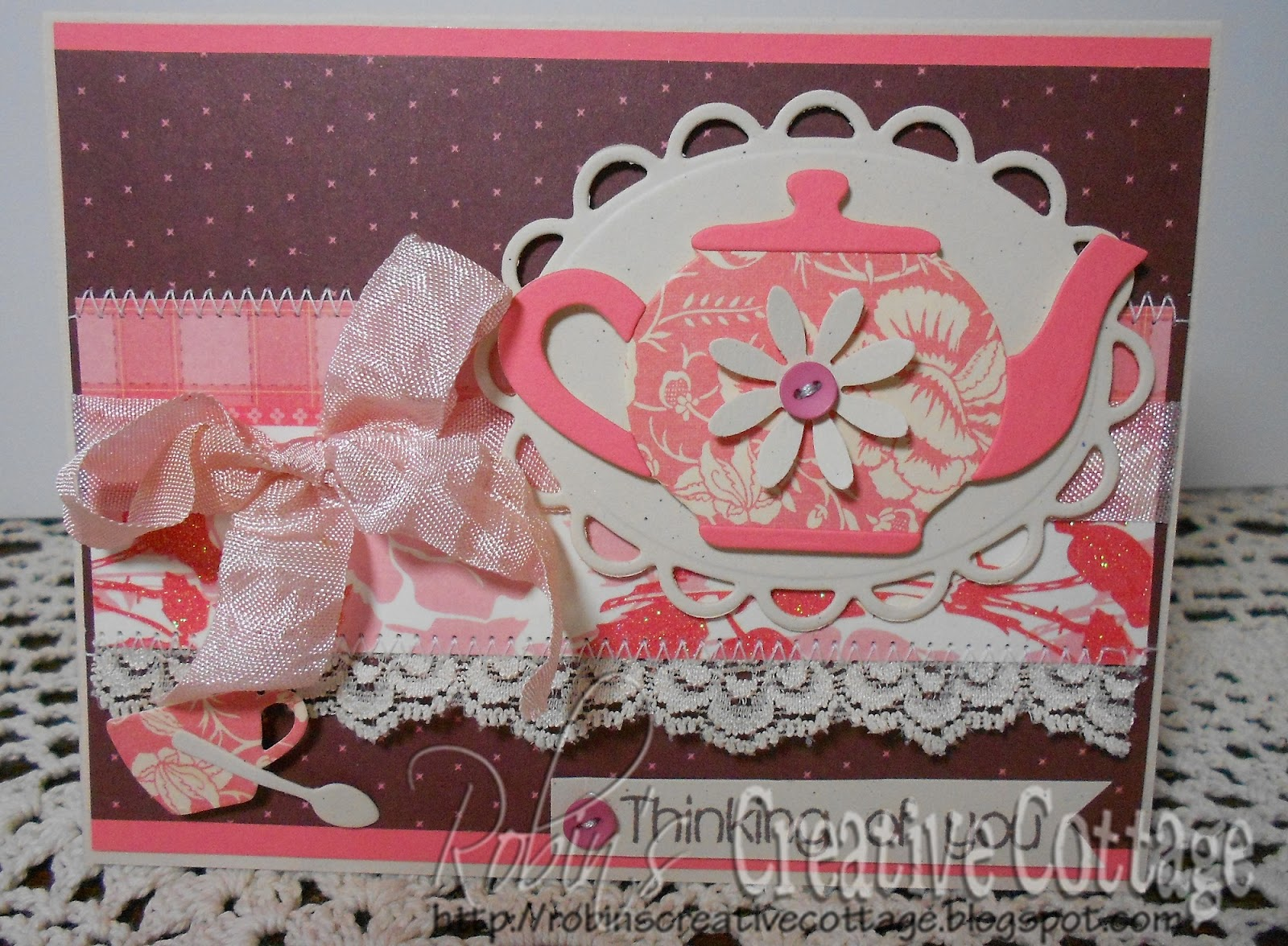 Teapot And Teacup Die Cut Tied Tea Party Invitations Picture | Dog ...