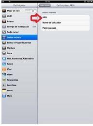 Como configurar APN no iPad