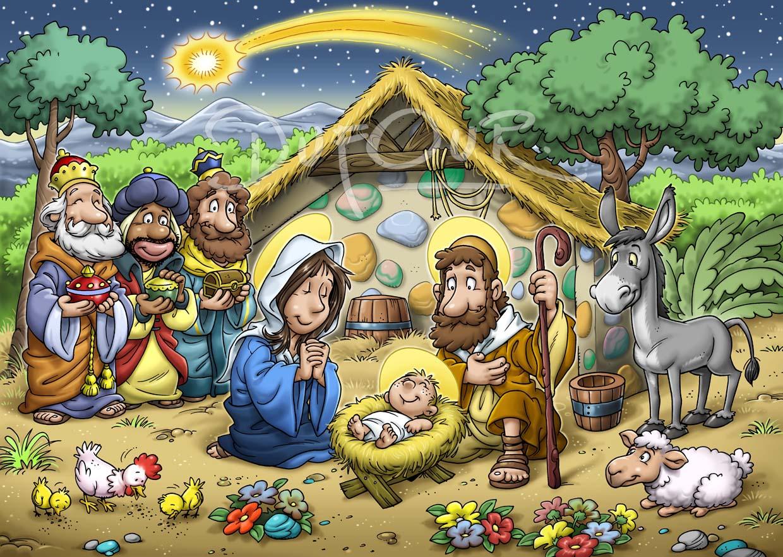 Santiago dufour ilustraciones pesebre - Dibujos en color de navidad ...