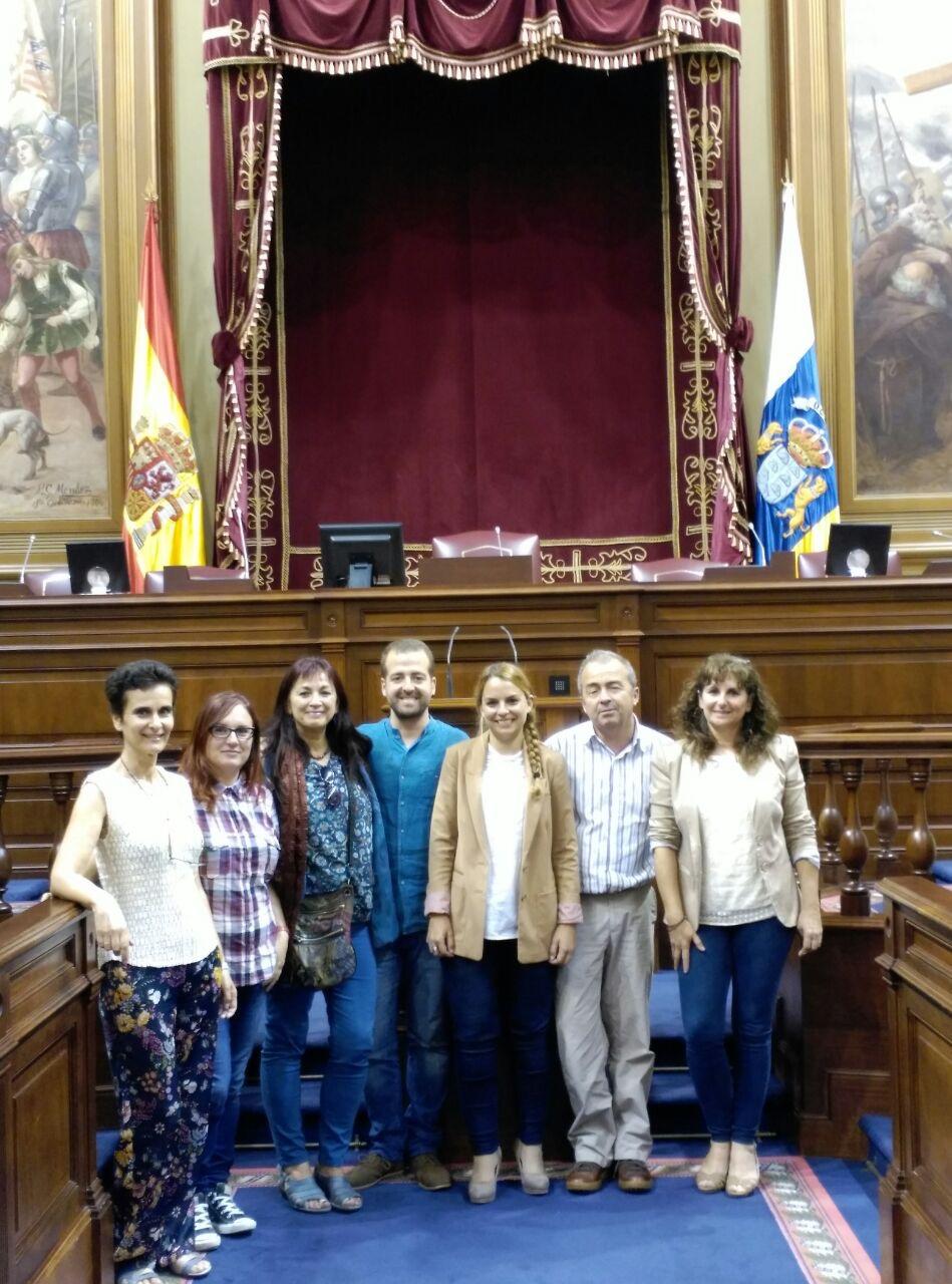 Integrantes del Grupo Parlamentario Podemos Canarias