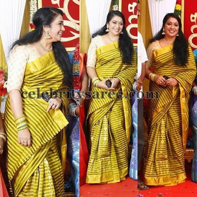 Rekha Stripes Silk Saree