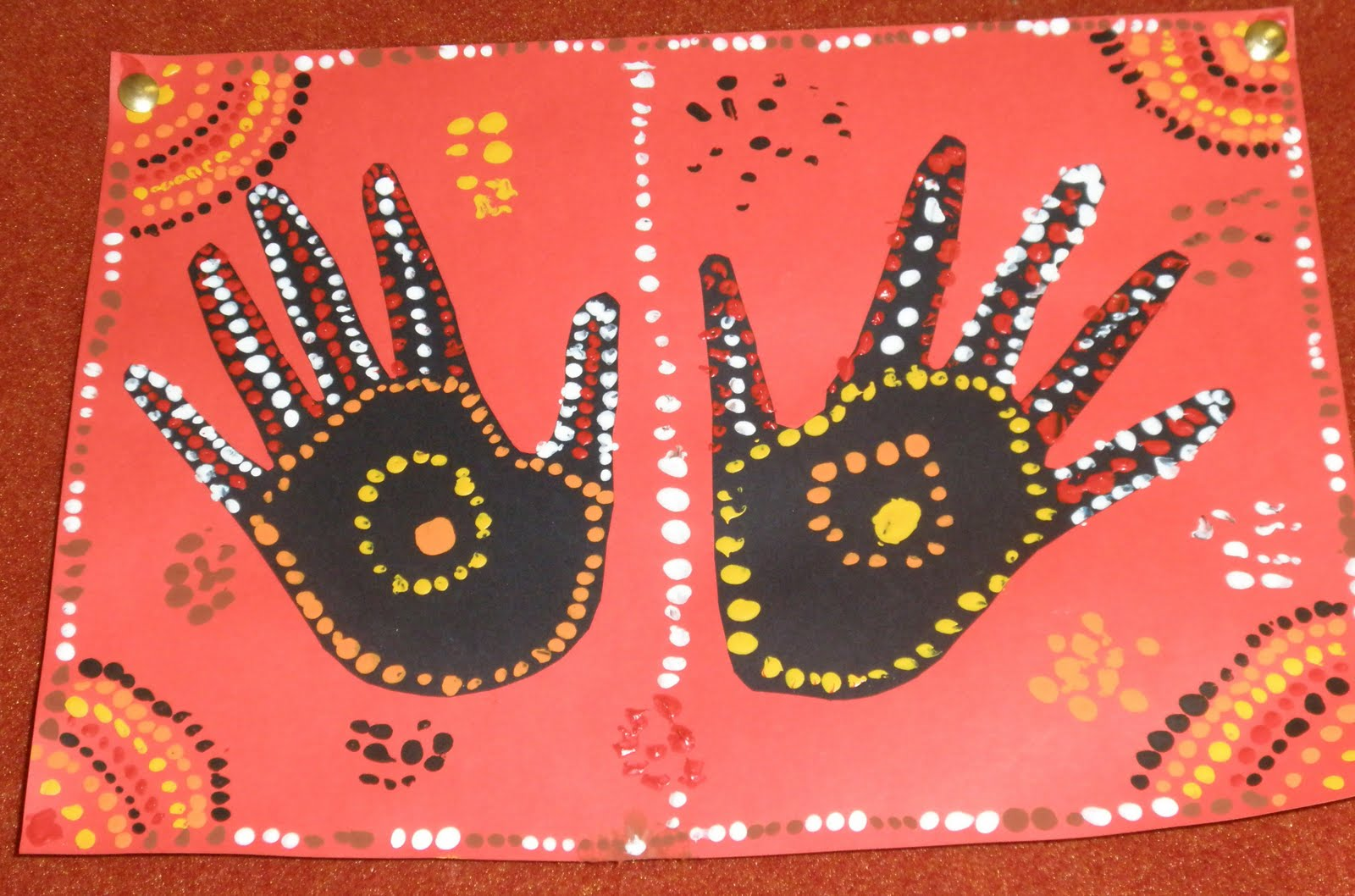 Art With Mrs Baker Aboriginal Hand Print Art