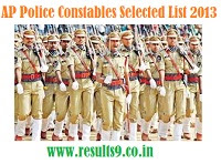 AP Police Constable Selected Candidates List 2013