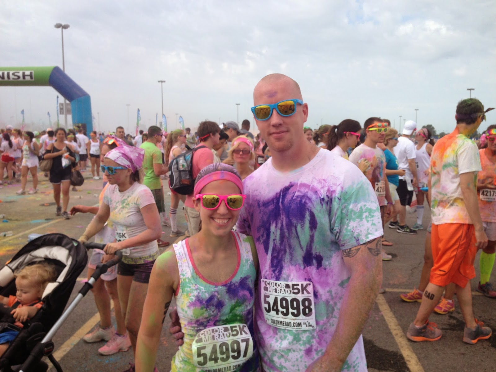 Color me rad after pic
