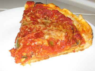 Slice of Chicago Deep Dish Pizza