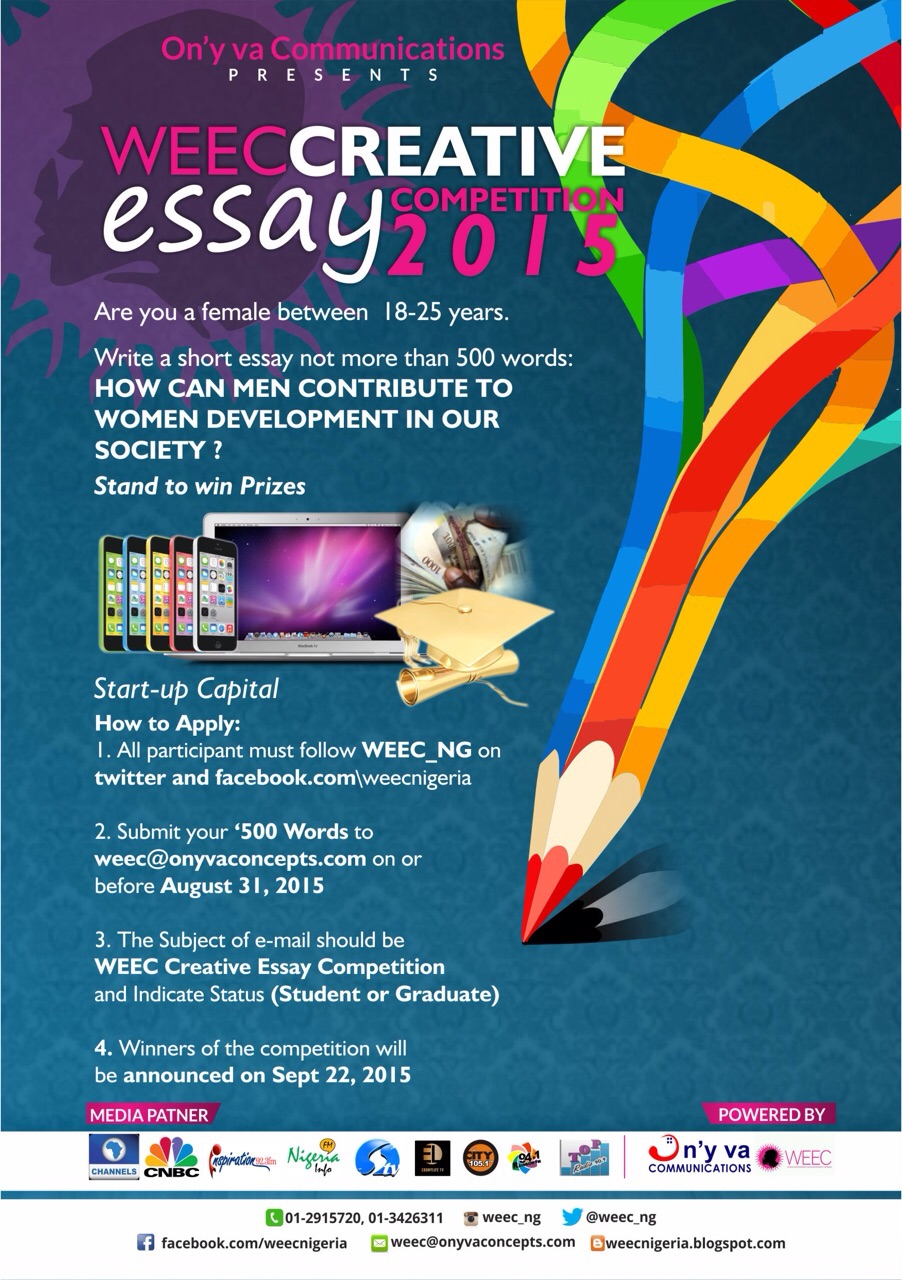 weec organizes creative essay competition for young females women empowerment and enlightenment campaign weec is organizing a creative essay competition for young girls in the month of