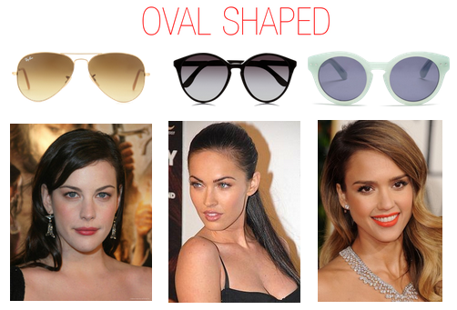 Which sunglasses to wear when you have a oval shaped face - Jessica Alba, Liv Tyler,