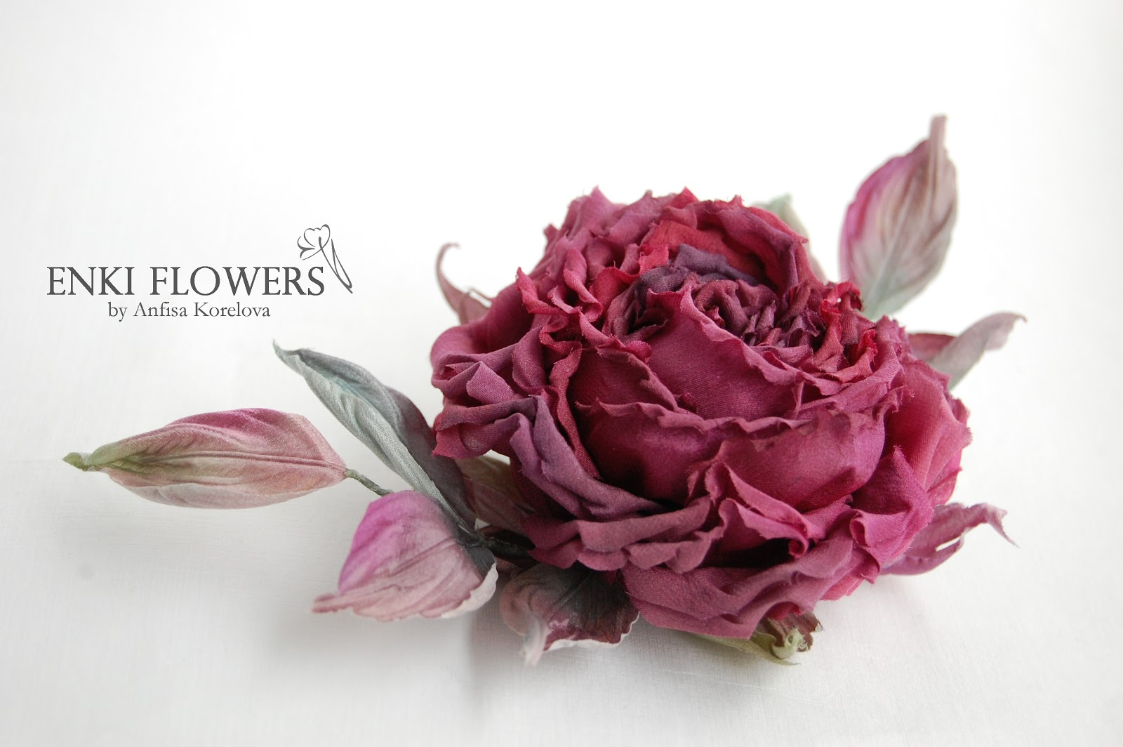 Цветы из ткани.Цветы из шелка.