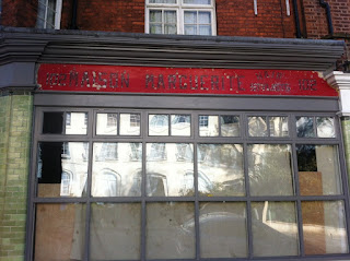 Ghost sign for Maison Marguerite, Hair Stylists, Denmark Hill, London SE5