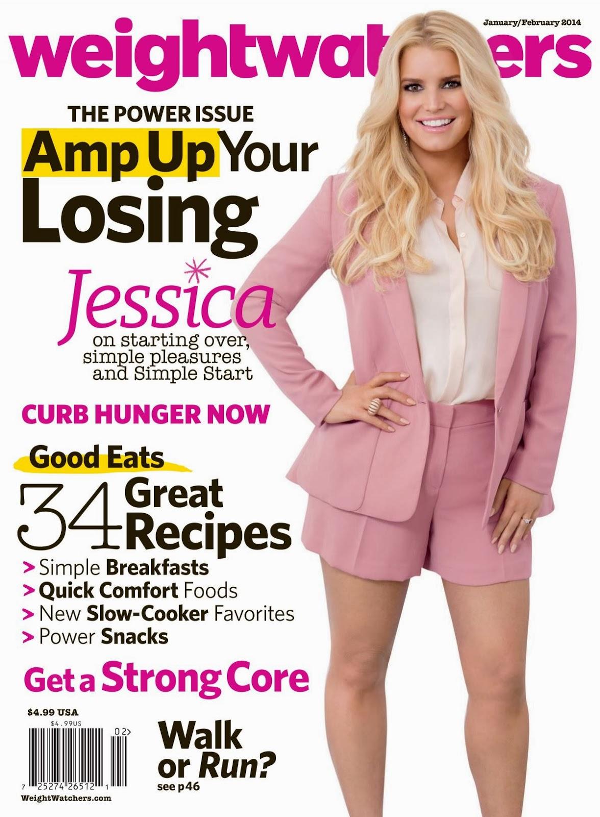 Magazine Photoshoot : Jessica Simpson Photoshot For WeightWatchers Magazine US January/February 2014 Issue
