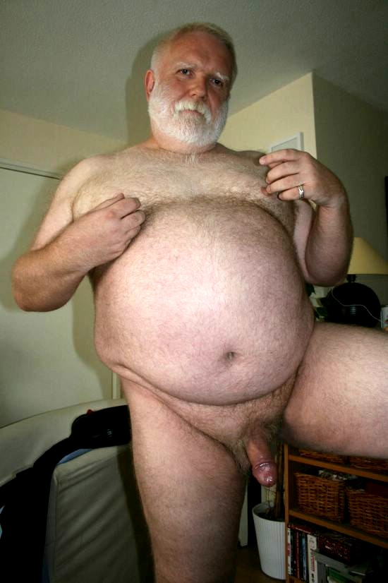 Hairy Oldermen Cock Naked Gray Grandpa Big Belly