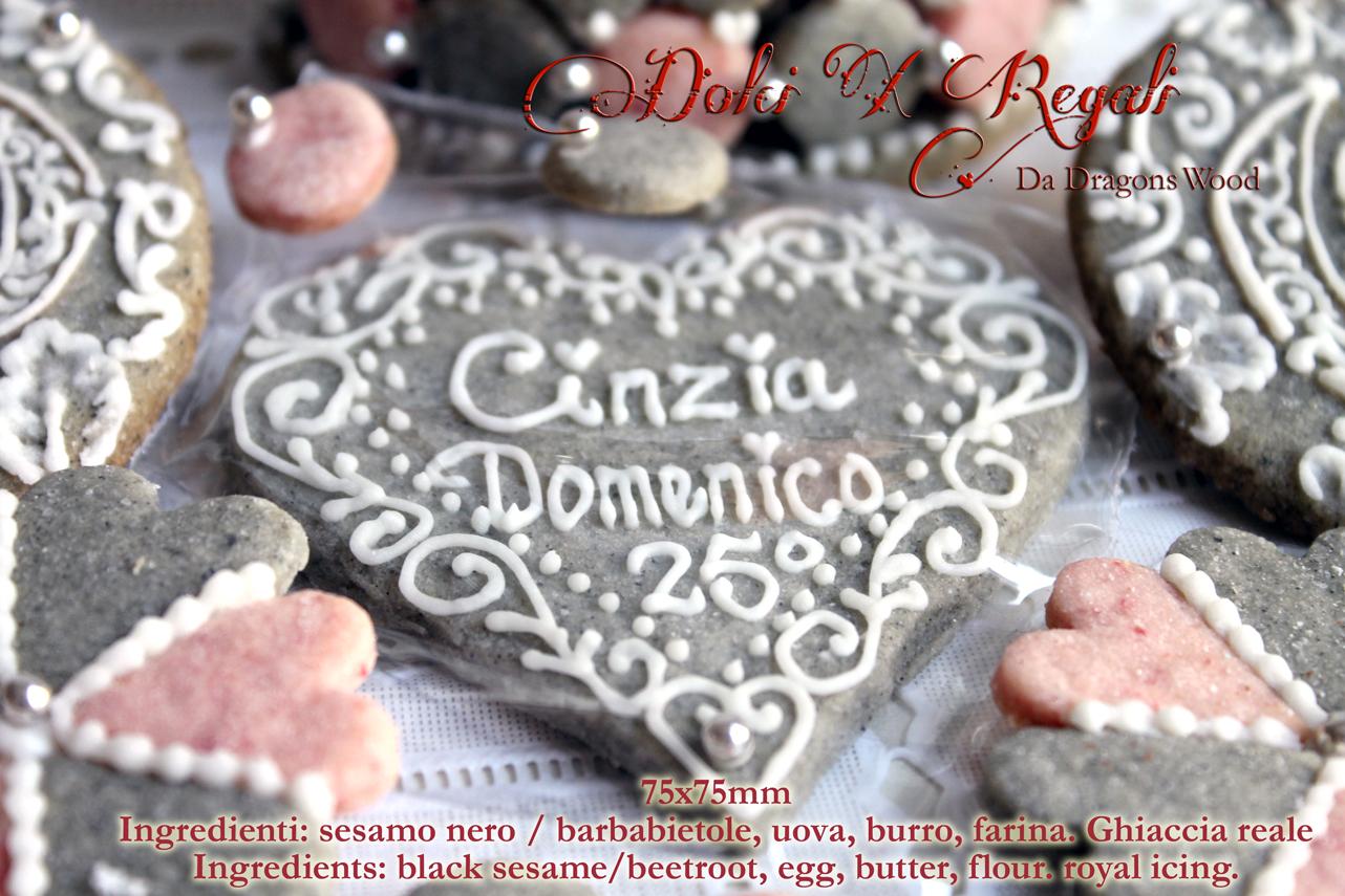 Bien connu Regali e segnaposto per matrimonio argento-scatola biscotti fatto  GB49