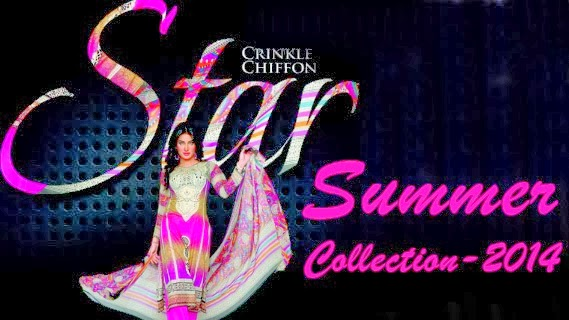 Star Crinkle Chiffon Lawn Collection 2014