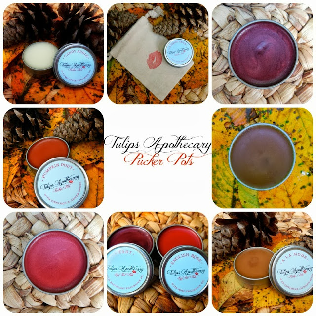 Lip Balms in Fall Scents-Apple Pie, Pumpkin Spice, Chocolate, Candy Apple and Licorice
