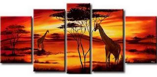Pintura Pop Africana Paisajes
