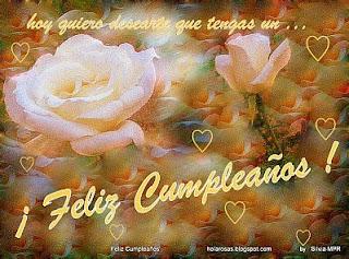 Tarjetas de Cumpleaños con Rosas Blancas