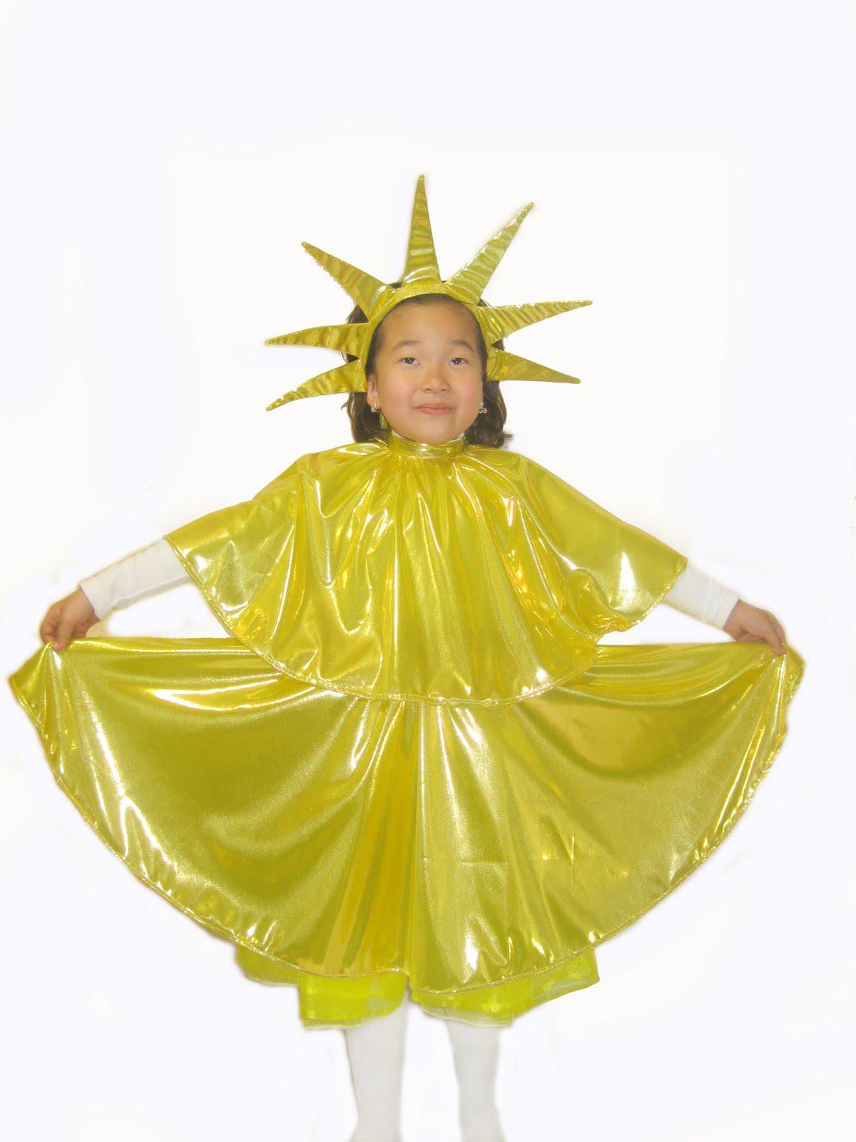 Костюм солнышка для девочки своими руками