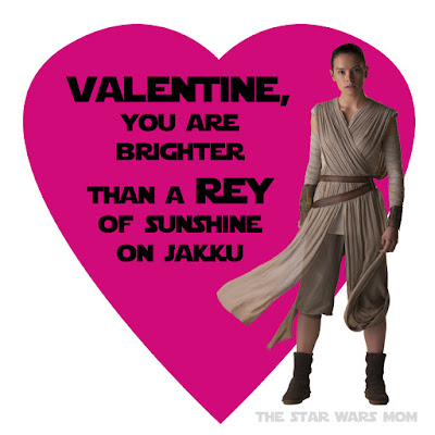 Rey Valentine Free Printable Alternative Version