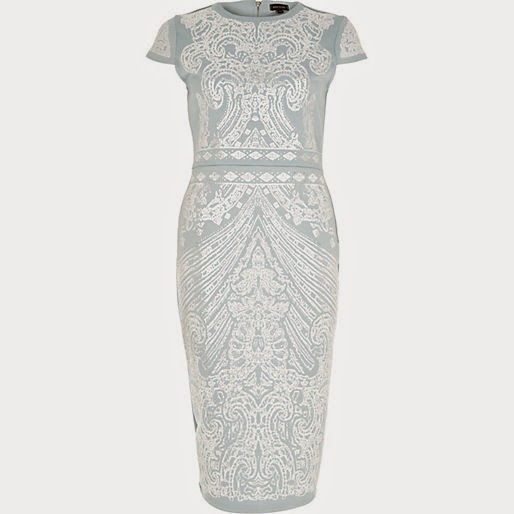 river island blue and white dress, river island blue print dress,