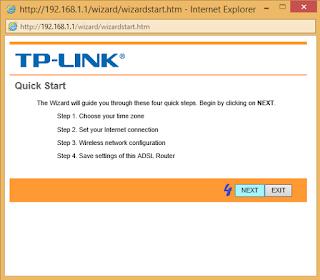 Configure TP LINK ADSL Router