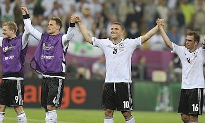 Alemanha vence as 3 partidas do grupo B e é a única seleção da Eurocopa que se classificou para as quartas-de-final com 100% de aproveitamento