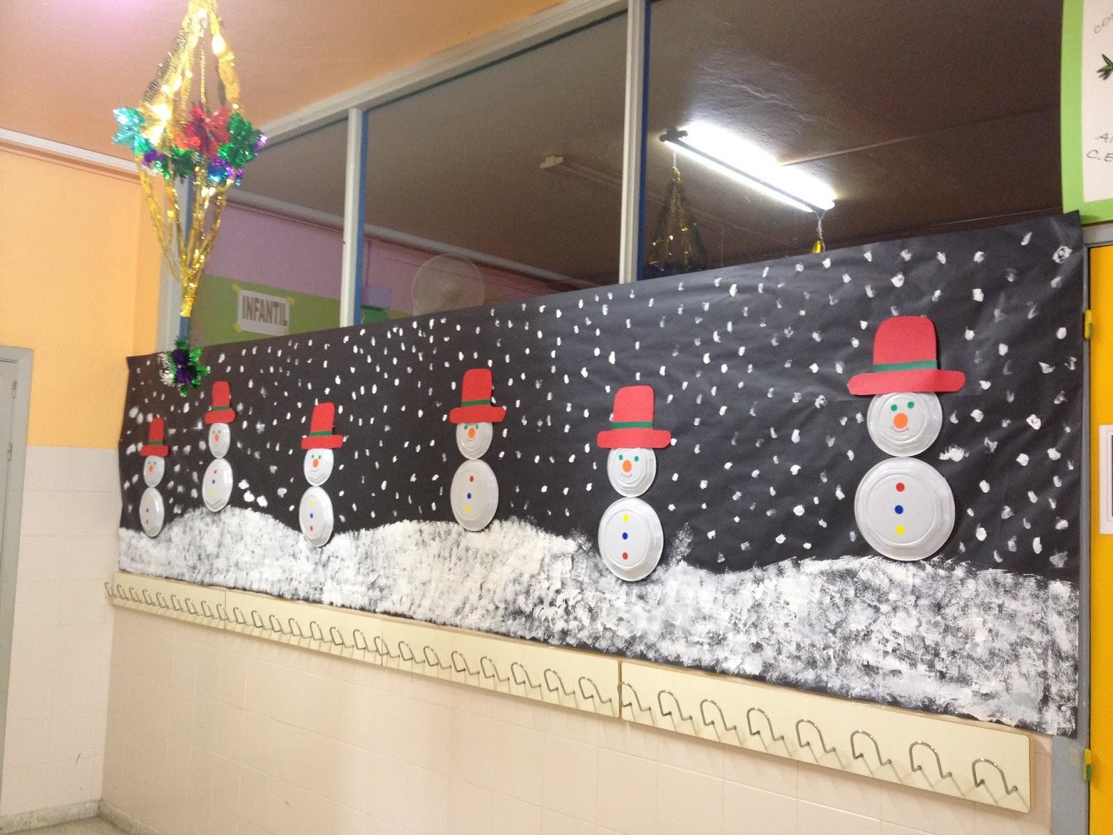 Mi clase en la luna decoraci n de pasillos en navidad - Decoracion de pasillos y recibidores ...