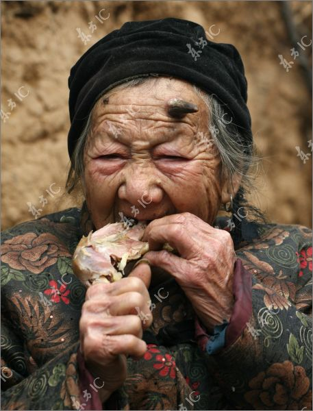 Ugly Chinese Woman 100 years old chinese woman
