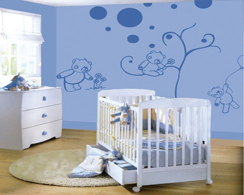 decoration mur chambre bebe. Black Bedroom Furniture Sets. Home Design Ideas