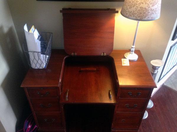 Inside of the desk