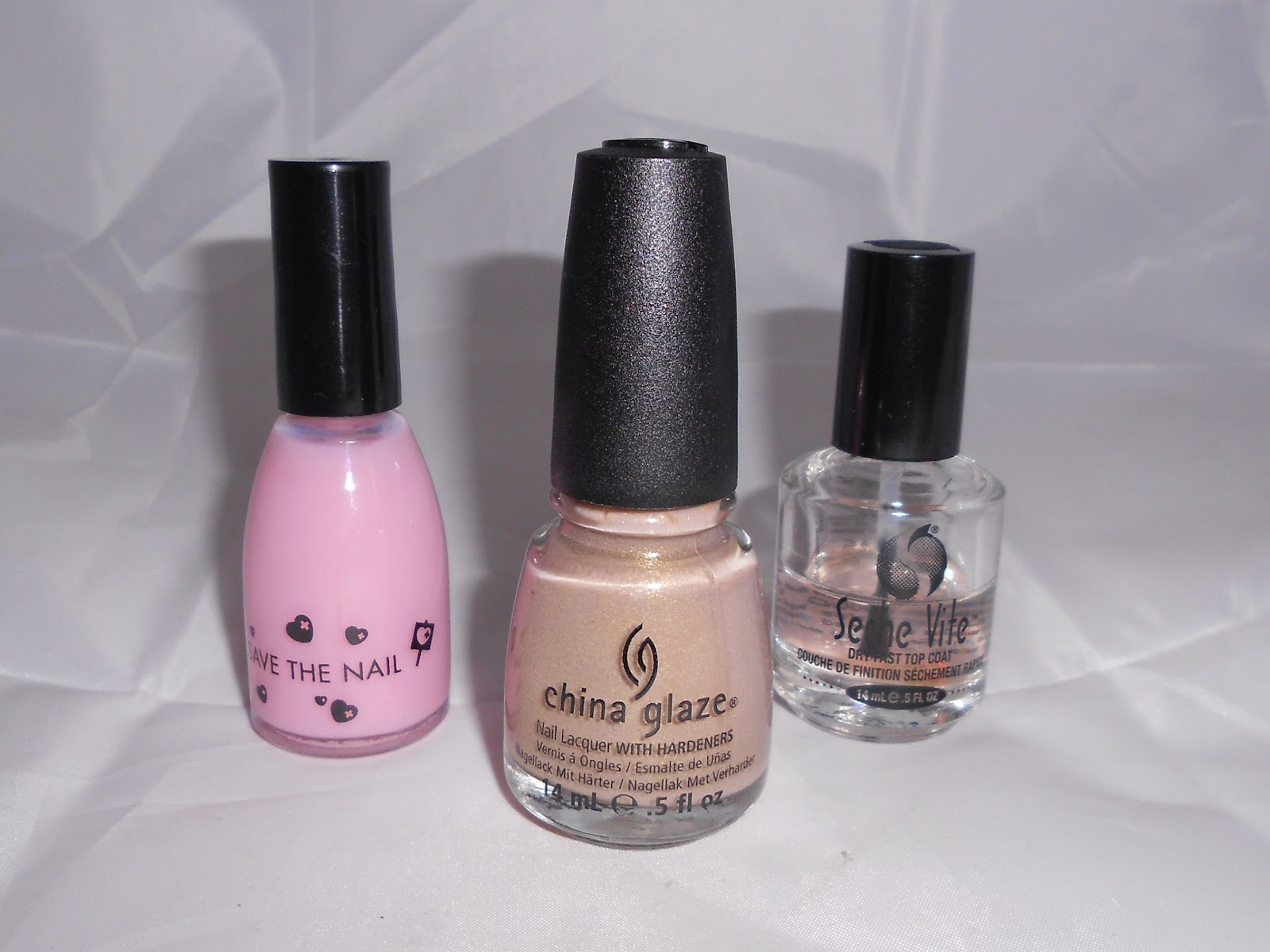 base coat, top coat and China Glaze Fast Track