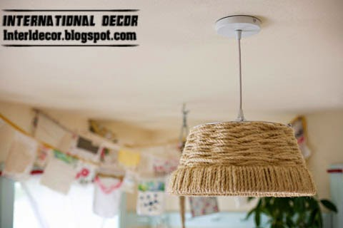 DIY beautiful chandelier with rope, diy chandelier