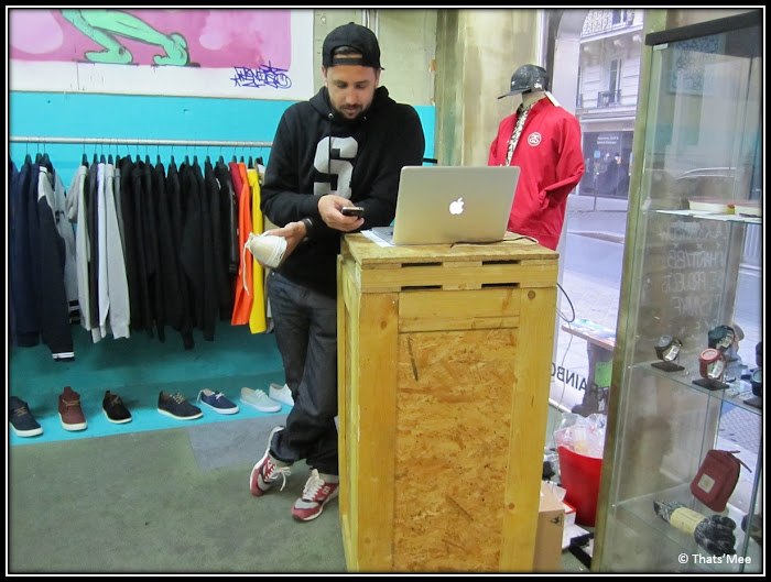 Clemant Black rainbow streetwear shop rue des archives Paris sneakers