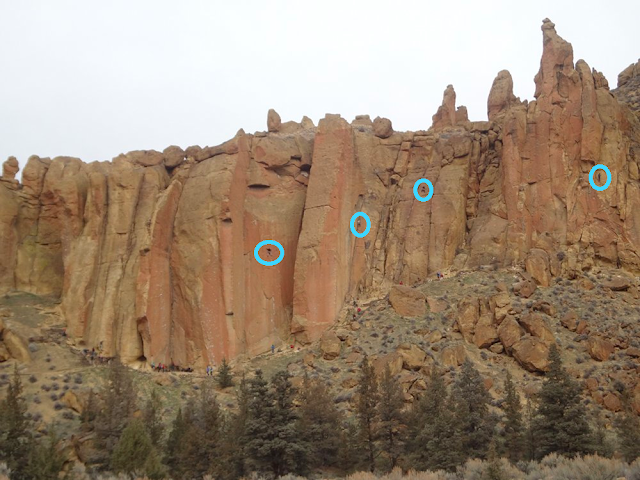 rock climbers on smith rock
