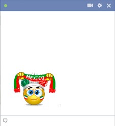 Mexico football fan emoticon