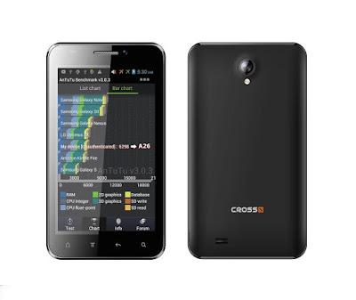 Cross Andromeda A26, Hp Android, Dual SIM, Processor Dual-core, Layar 5-inch, Kamera 8 MP