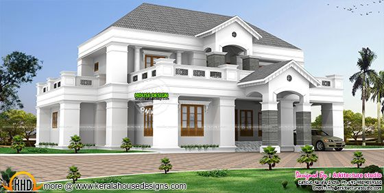 Luxurious pillar type home design