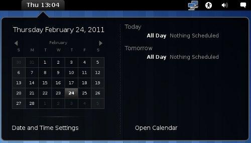 GNOME Calendar in