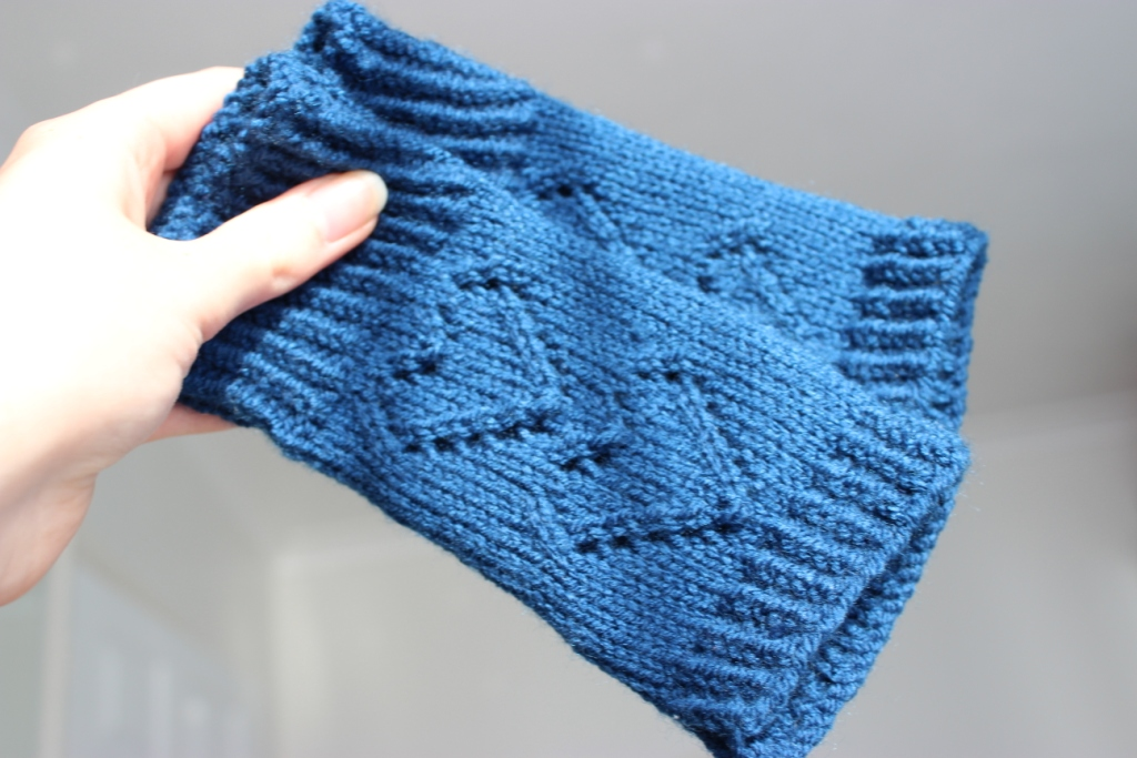 Fingerless Gloves Knitting Pattern Magic Loop : floral and feather: I heart knitted fingerless gloves
