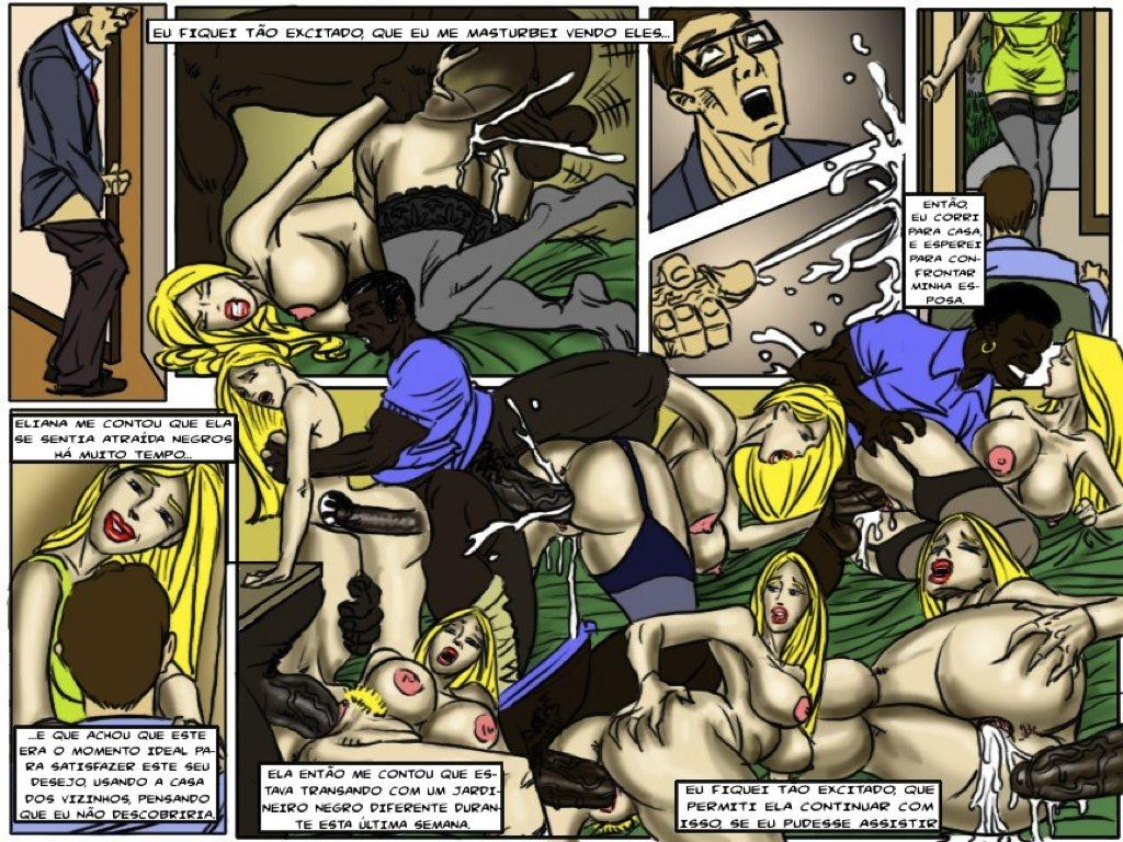 порно комиксы interracial