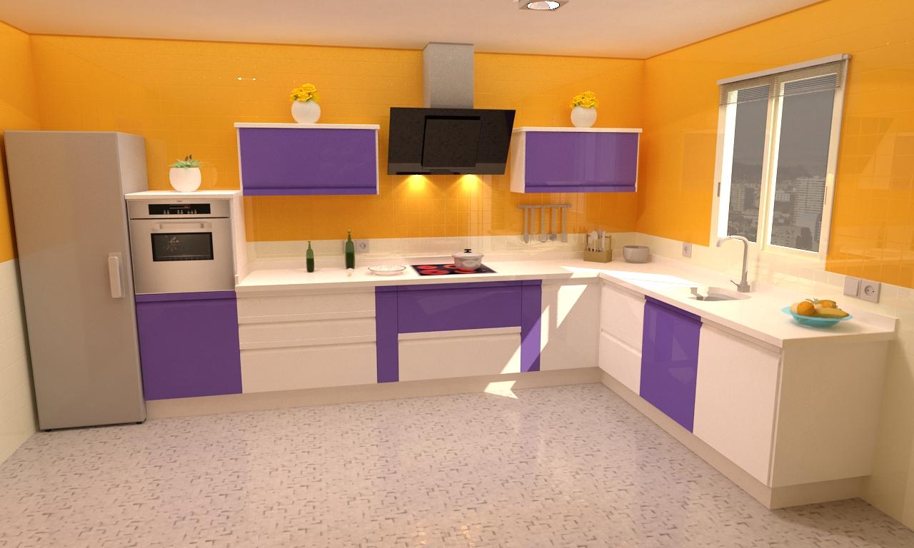 Cocina mod tanzania - Cocina color lila ...