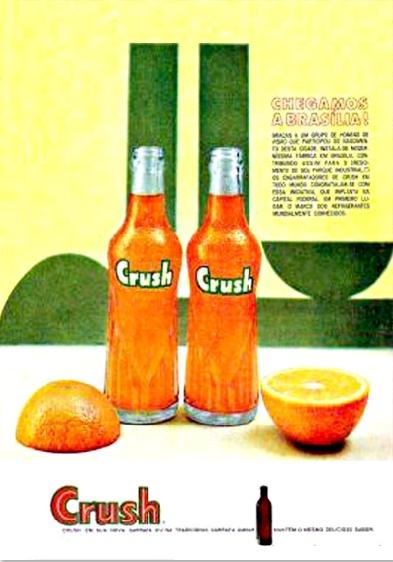 Propaganda do Refrigerante Crush em homenagem à Brasília.