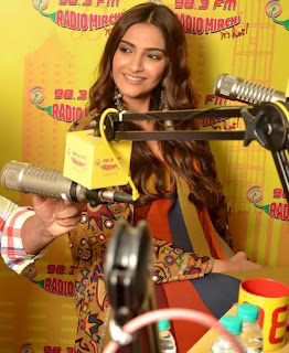 Sonam Kapoor and Salman Khan at 98.3 FM Radio to promote their upcoming movie Prem Ratan Dhana Payo