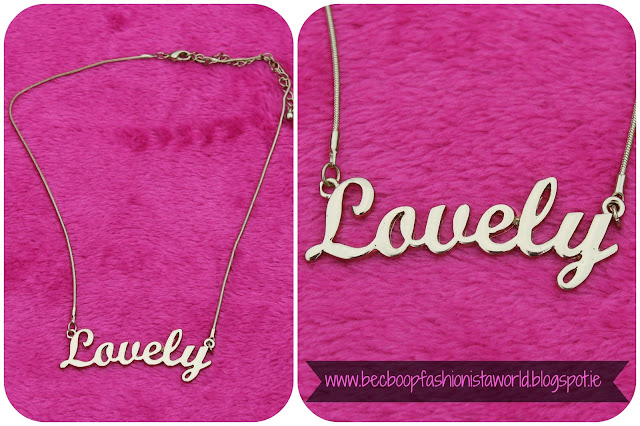 August Thrift Finds Pandoras Box Galway 'Lovely'necklace