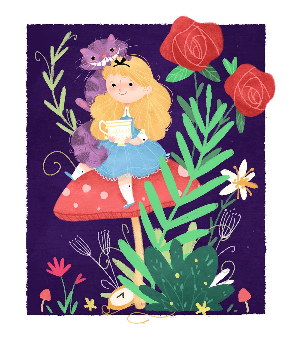 Pinzellades al món: Alícia en el País de les Meravelles i el gat de Cheshire : il·lustracions ...