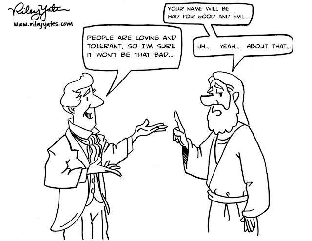 Mormon cartoon, Jesus cartoon, Religious bigotry