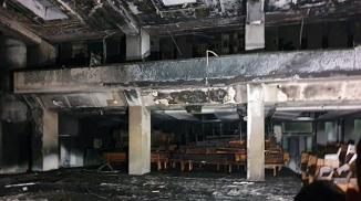 GALERIE FOTO: Biserica Penticostală Betel Arad, mistuită de flăcări