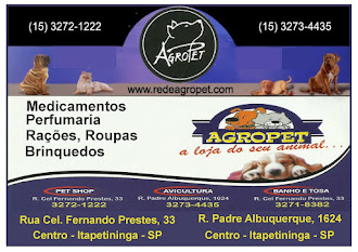 Agropet Itaprtininga sp Loja 1 Agropecuária / Pet Shop / Banho e Tosa Rua Coronel Fernando Prestes,