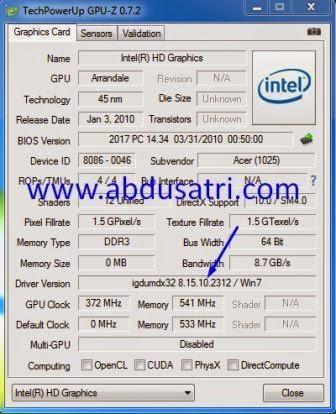 Cara mengetahui type driver VGA laptop secara lengkap